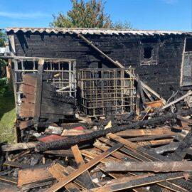 Drei Gartenhäuser in Brand geraten